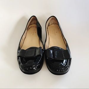 Kate Spade Patent Leather Bow Loafers